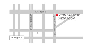 Sapporo Showroom Map