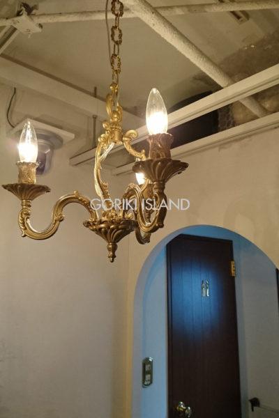 真鍮シャンデリアライトGATE 3 3灯
